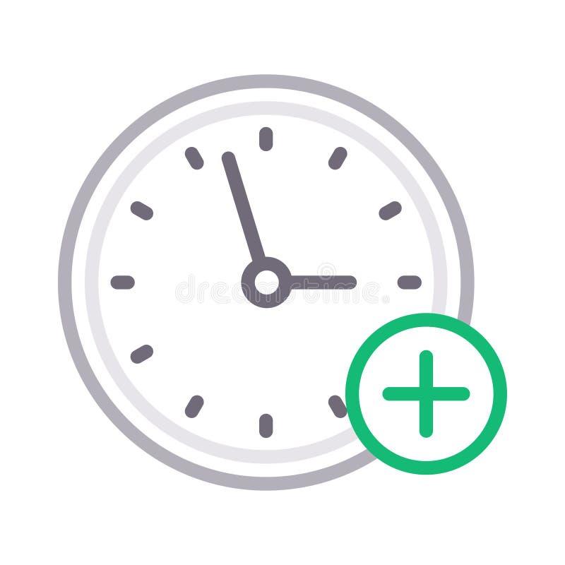 Ajoutez la discrimination raciale mince d'horloge icône de vecteur illustration libre de droits