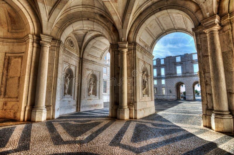 Ajuda宫殿拱廊 免版税库存照片