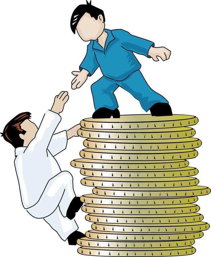 Ajuda ilustração royalty free