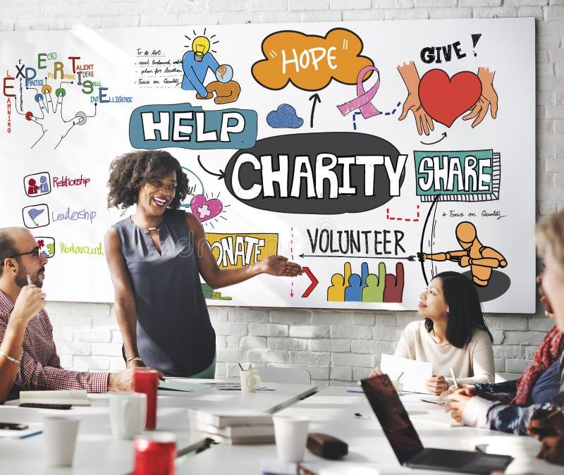 A ajuda da caridade dá o conceito voluntário fotografia de stock