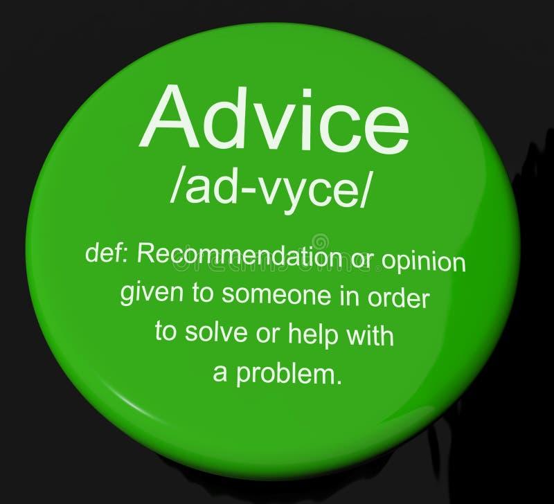 Ajuda da exibição da tecla da definição do conselho ilustração do vetor