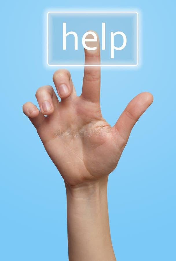 Ajuda da mão e de tecla imagens de stock