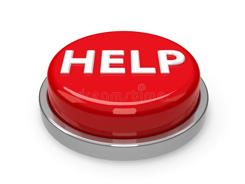 Ajuda de botão ilustração royalty free