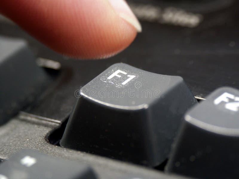 Ajuda do computador foto de stock
