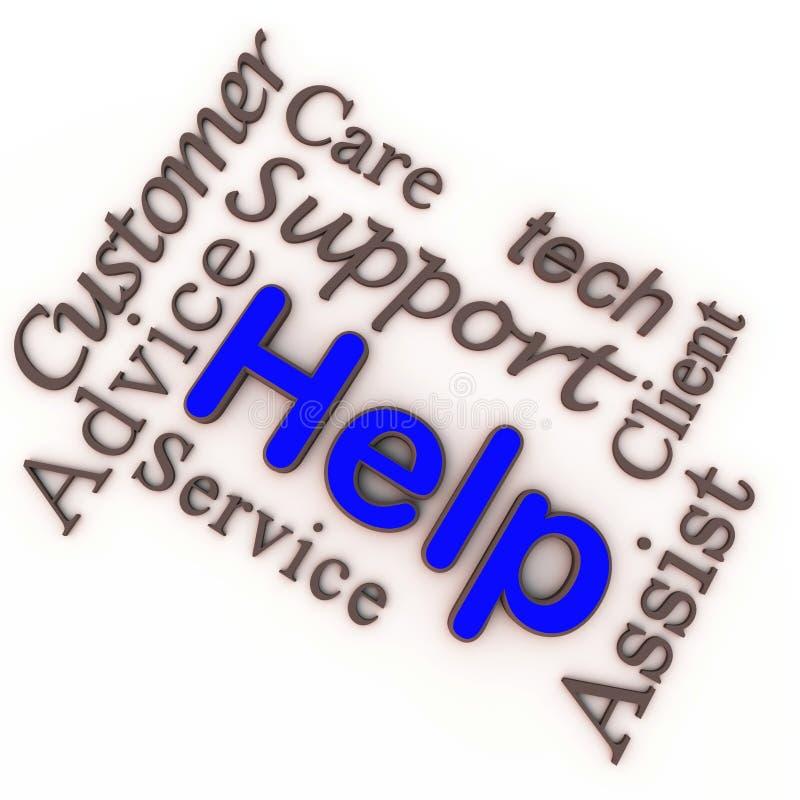 Ajuda do cuidado do cliente ilustração royalty free