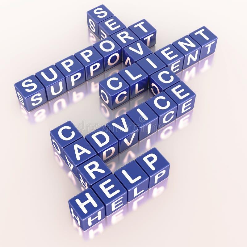 Ajuda do serviço de atenção a o cliente ilustração royalty free