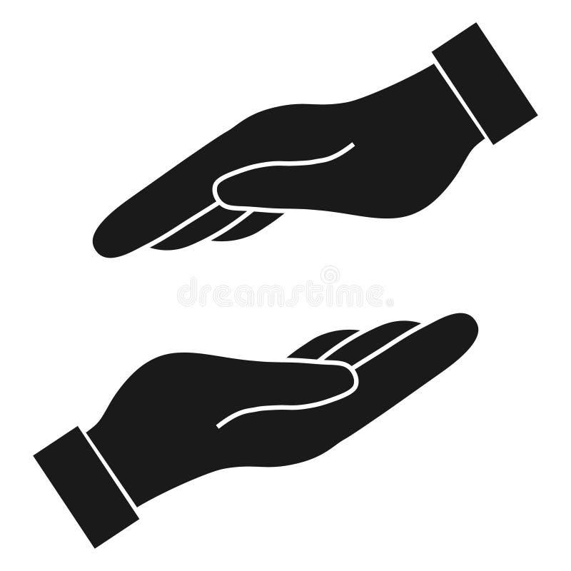 Ajuda e para proteger a mão ilustração do vetor