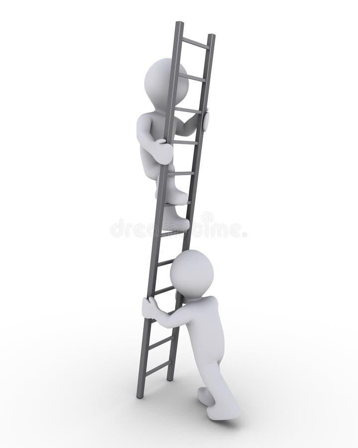 Ajuda escalar a escada ilustração royalty free
