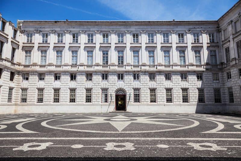 The Ajuda National Palace of Lisbon, Portugal. stock photography