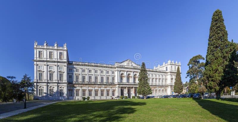 Ajuda nationell slott Lissabon arkivfoto