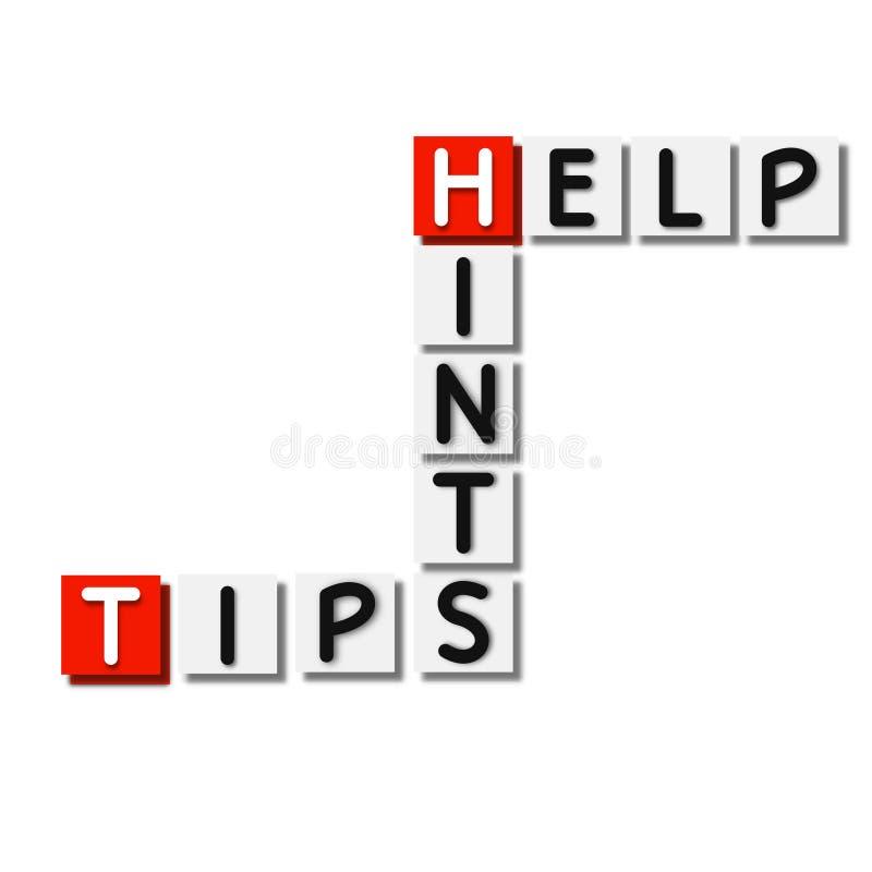 Ajuda, sugestões, teste padrão dos elementos do fundo das pontas, cartaz abstrato do negócio da qualidade super ilustração do vetor
