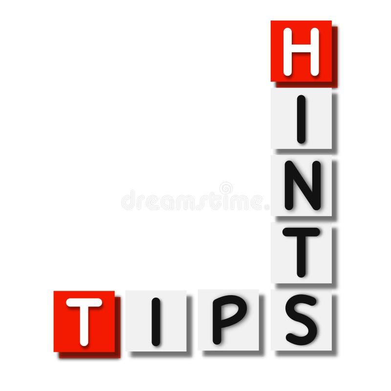 Ajuda, sugestões, teste padrão dos elementos do fundo das pontas, cartaz abstrato do negócio da qualidade super ilustração stock