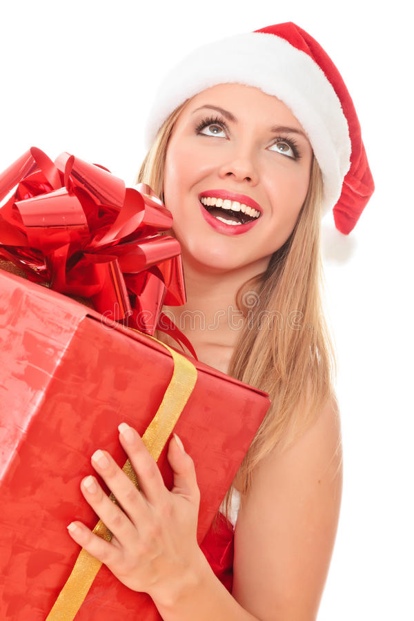 Ajudante alegre de Santa imagens de stock