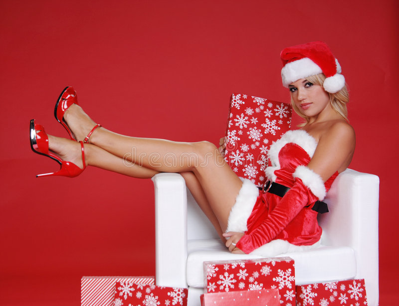 Ajudante de Santa fotografia de stock royalty free