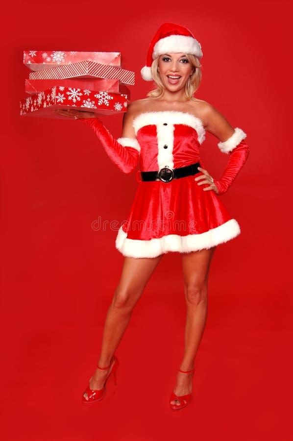 Ajudante do Natal de Santa fotografia de stock royalty free