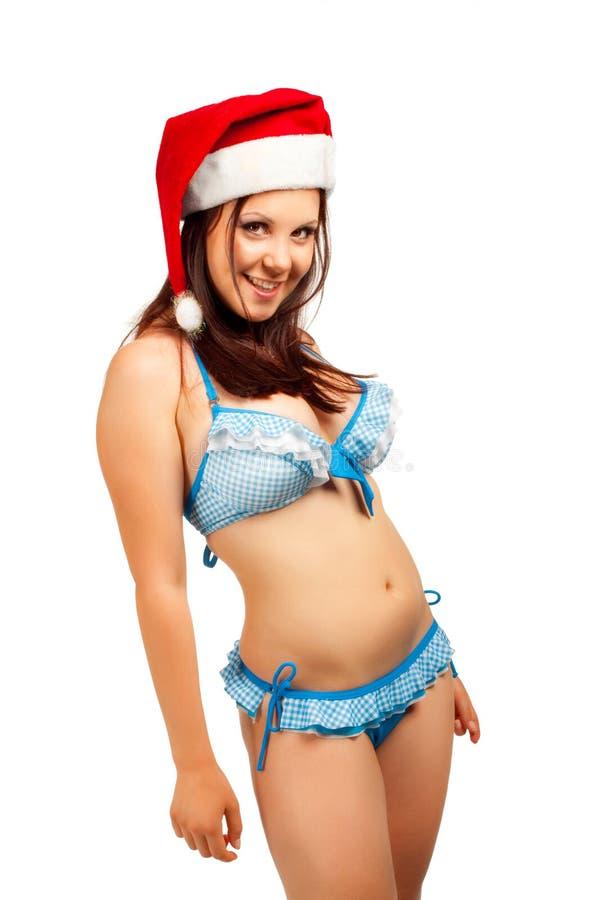 Ajudante sedutor de Santa imagens de stock