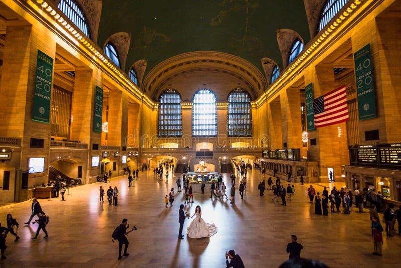 Ajuntamento principal no terminal histórico de Grand Central foto de stock