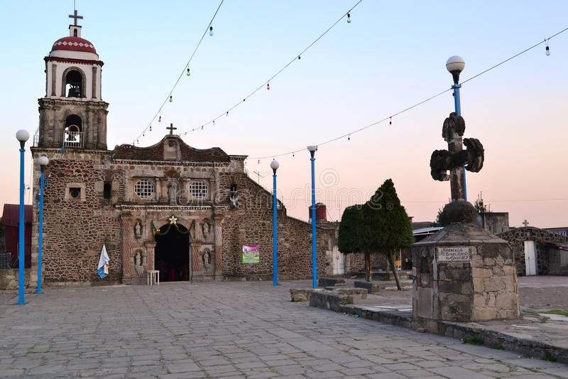 Ajusco di tomas di Iglesia de santo immagini stock libere da diritti