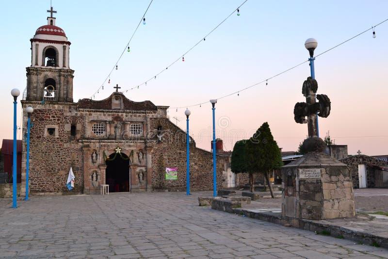 Ajusco tomas Iglesia de santo стоковые изображения rf