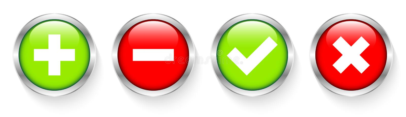 Ajustado de dois ícones de prata dos botões sombra fêmea e masculina ilustração stock