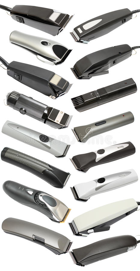 Ajustador - ferramentas do barbeiro imagem de stock royalty free