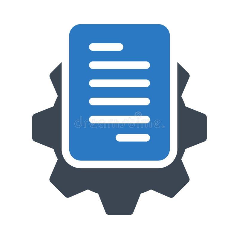 Ajustando o ícone liso do vetor da cor do glyph do blogue ilustração do vetor