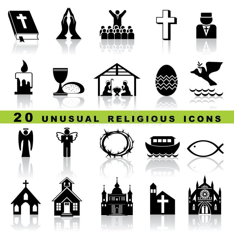 Ajuste ícones cristãos ilustração do vetor
