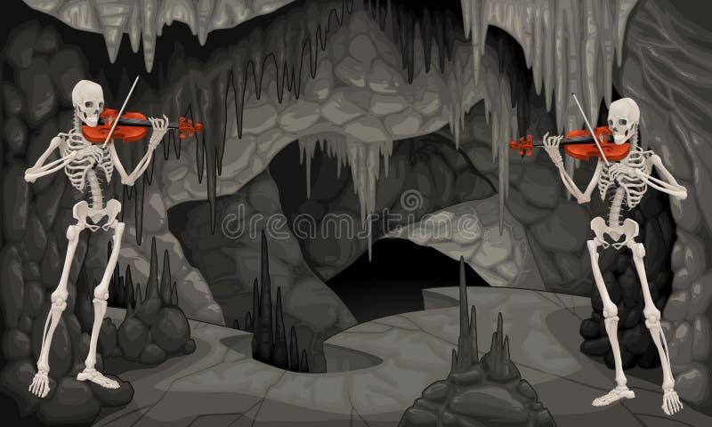 Ajuste a caverna. ilustração royalty free