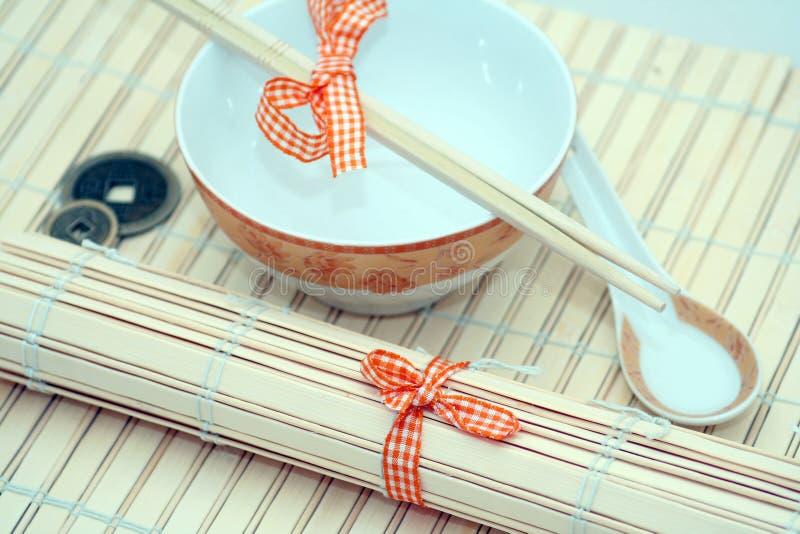 Ajuste chinês da tabela imagens de stock