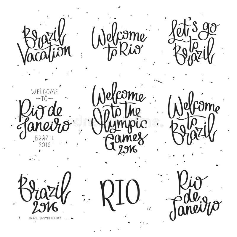 Ajuste citações sobre Brasil ilustração do vetor