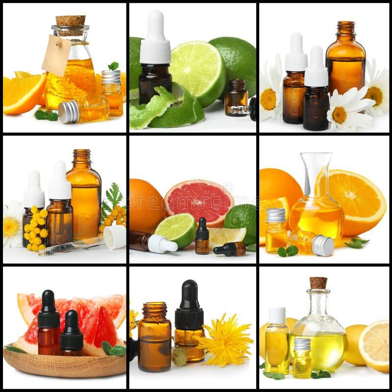 Ajuste com óleos essenciais diferentes foto de stock