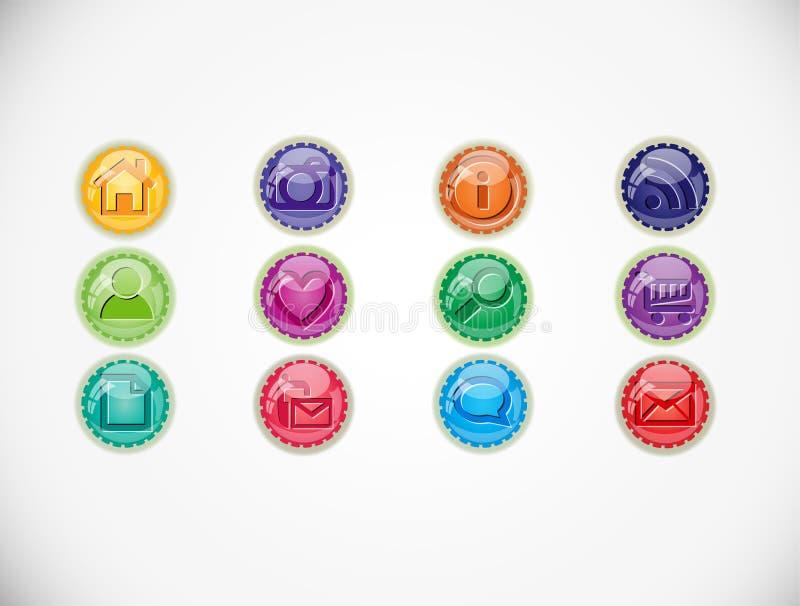 Ajuste com botões ilustração royalty free