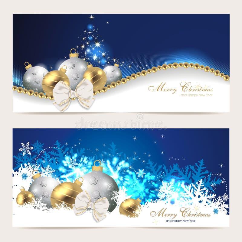 Ajuste com cartões de Natal ilustração royalty free