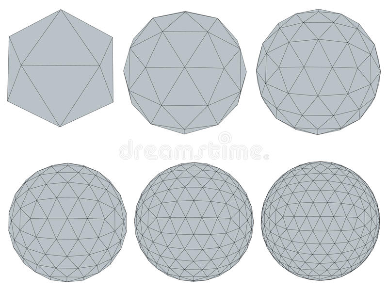 Ajuste com esferas ilustração stock