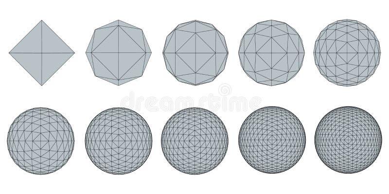 Ajuste com esferas ilustração do vetor