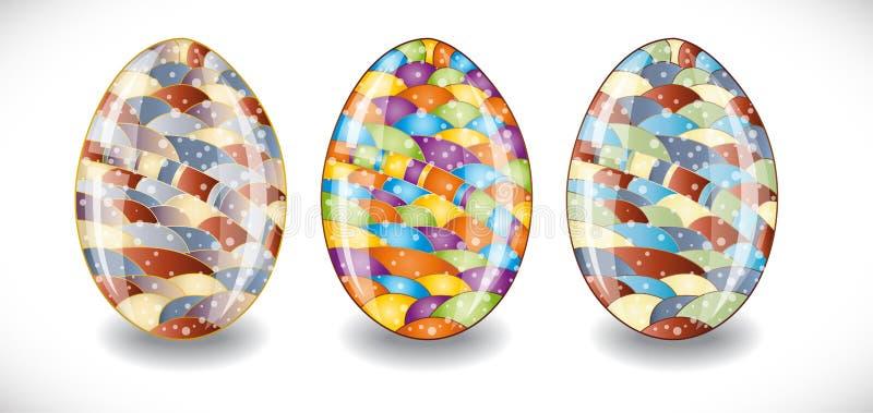 Ajuste com ovos da páscoa coloridos ilustração royalty free