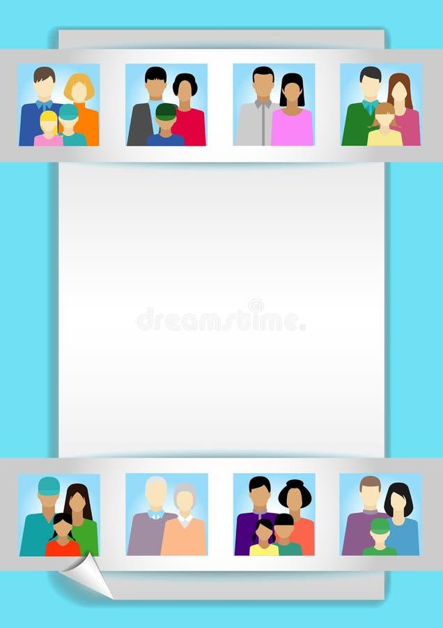 Ajuste com povos, família, eleitorado etc. ilustração do vetor