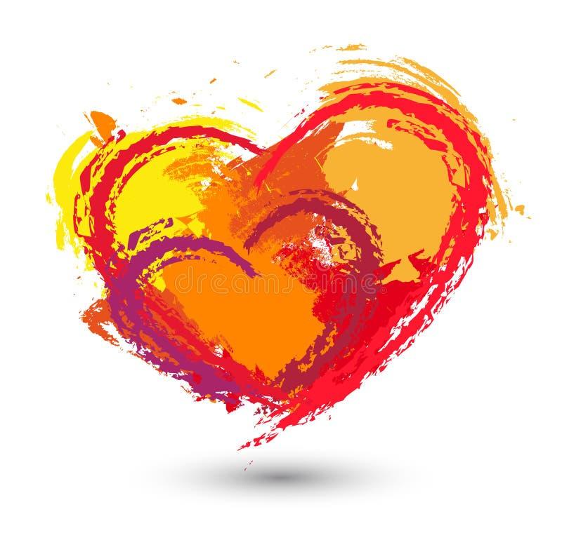 Ajuste corações do amor ilustração do vetor