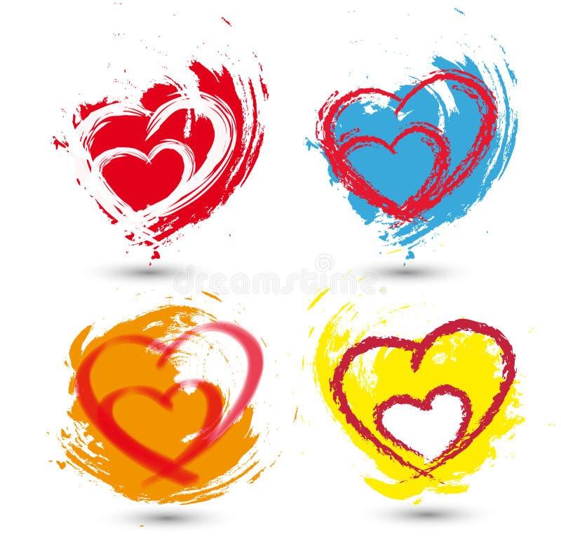 Ajuste corações do amor ilustração royalty free