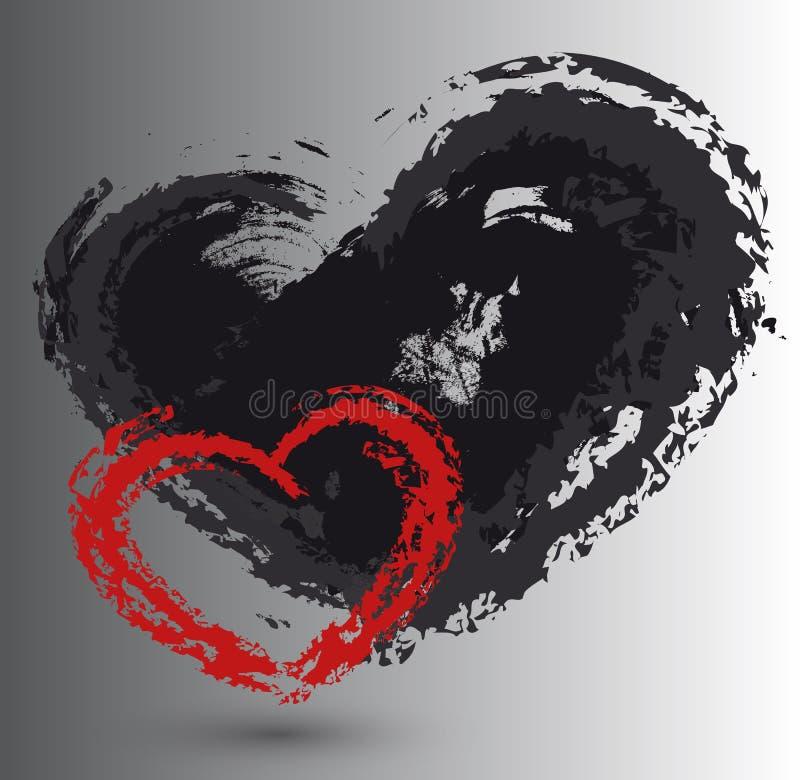 Ajuste corações do amor ilustração stock
