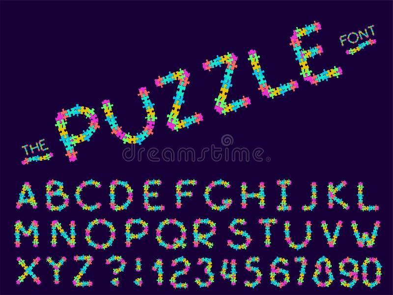 Ajuste da fonte e do alfabeto do sum?rio do vetor ilustração do vetor