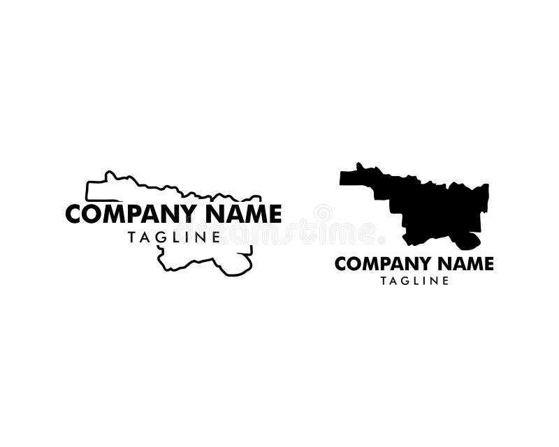 Ajuste da ilustração norte do vetor do ícone do logotipo do mapa de Texas ilustração royalty free