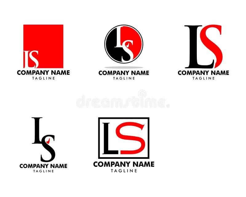 Ajuste da letra inicial LS Logo Template Design ilustração do vetor