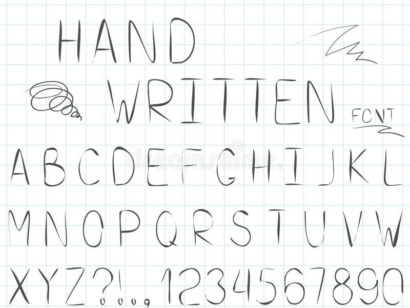 Ajuste da linha fonte e alfabeto simples do vetor ilustração do vetor