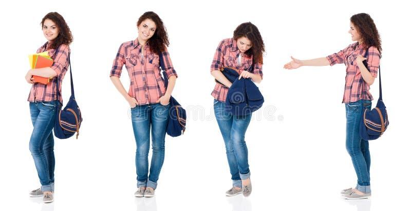 Ajuste da menina adolescente no branco imagem de stock royalty free