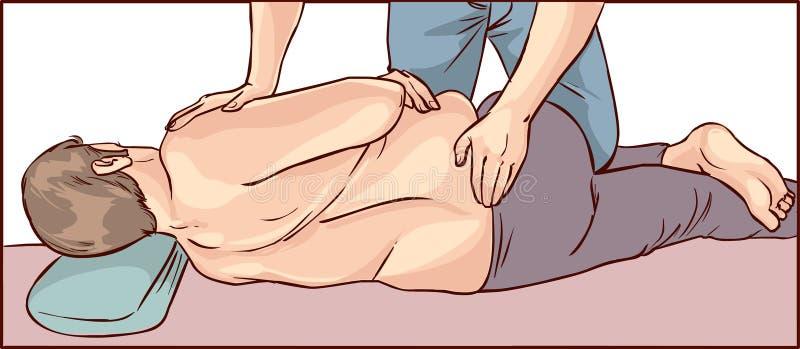 Ajuste da quiroterapia do corpo ilustração stock