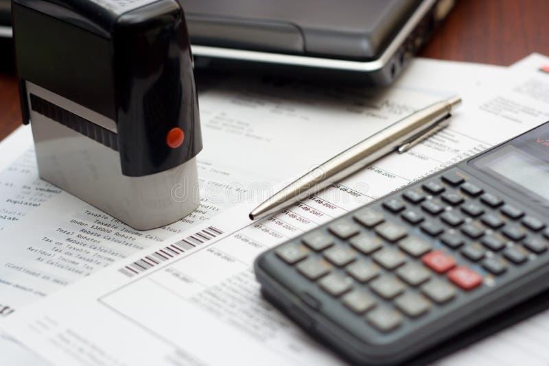 Ajuste da tabela da contabilidade imagens de stock royalty free