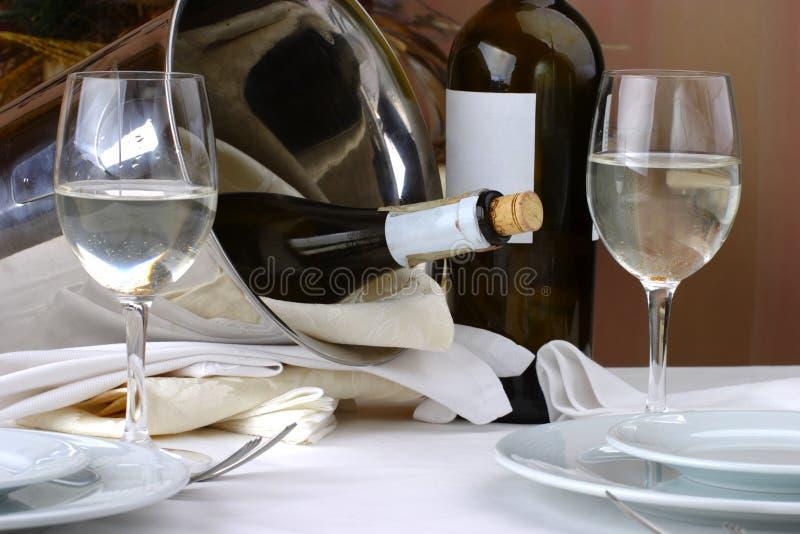 Ajuste da tabela de banquete foto de stock