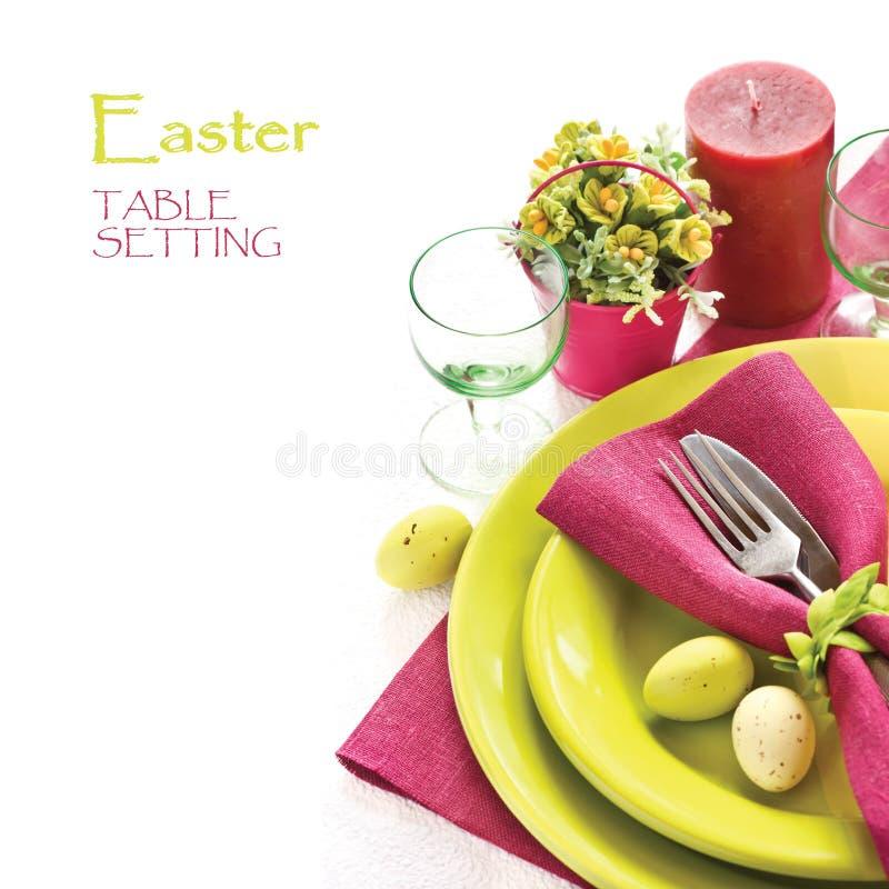 Ajuste da tabela de Easter. foto de stock royalty free