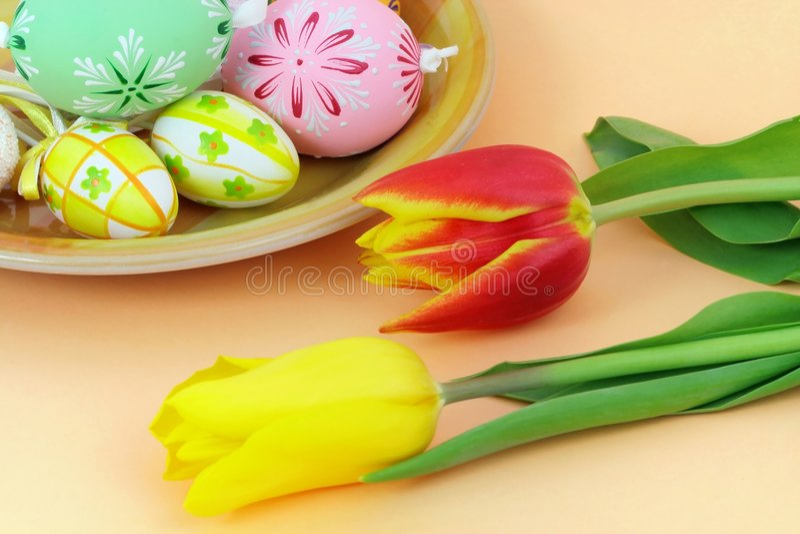 Ajuste da tabela de Easter foto de stock royalty free